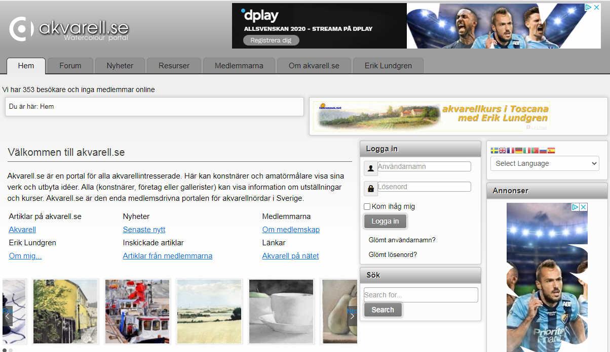 Akvarell.se ersätts av detta – Akvarell.se is replaced by this