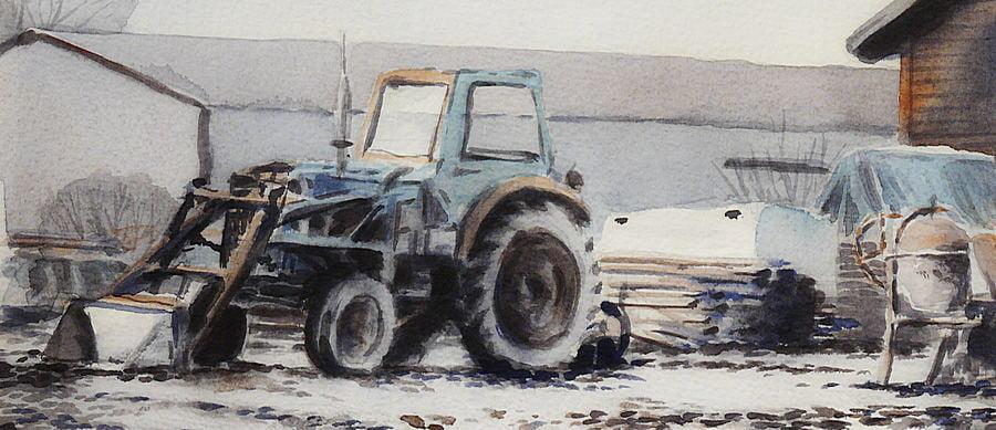 Övning traktor
