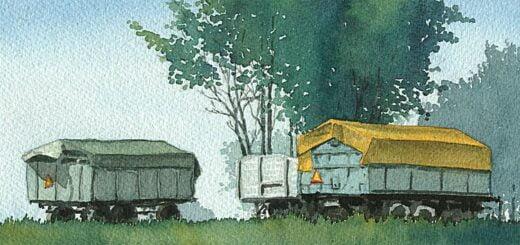 Vagnar och träd