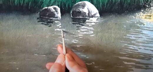 Vit akvarellfärg
