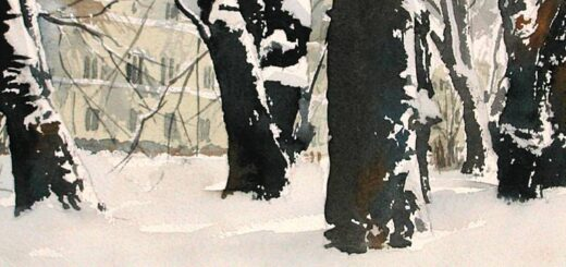 Lundagård in the snow