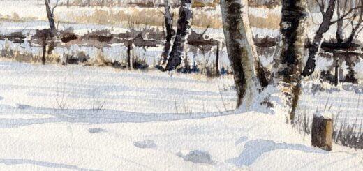 Spår, en akvarellövning
