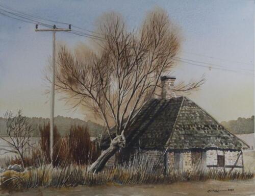 House tree and telephone pole 02
